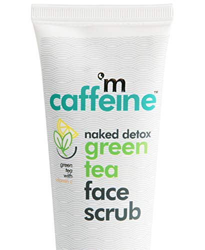 41pGKDj0GWL - mCaffeine Naked Detox Green Tea Face Scrub | Exfoliation | Vitamin C, Hyaluronic Acid | All Skin | Paraben & SLS Free | 100 g