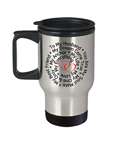 Love My Husband Travel Mug True Forever Stainless Steel