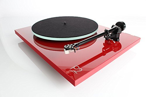 Rega Planar 2 Turntable with Dust Cover, Carbon cartridge, RB220 Tonearm (Gloss Red)
