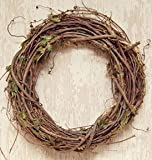 Grapevine Branches And Dried Leaves Wreath Country Primitive Florals Décor