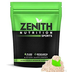 Zenith Nutrition Whey Protein with Enzymes for Digestion   26g protein (Kesar Kulfi, 525gms)