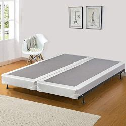 Spinal Solution 4-Inch Wood Split Low Profile Traditional Box Spring/Foundation for Mattress, Queen