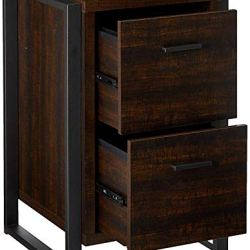 Offex Home Office 2 Drawer Vertical File Storage Cabinet – Dark Chocolate