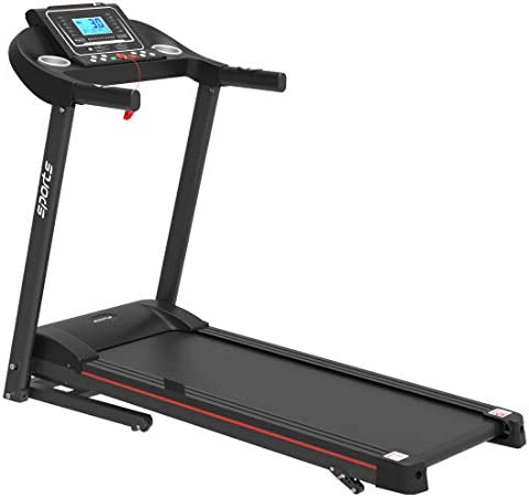 """uslion Folding Treadmill, Smart Motorized Treadmill with Manual Incline and Air Spring & MP3, Exercise Running Machine with 5"""" LCD Display for Home Use 1"""
