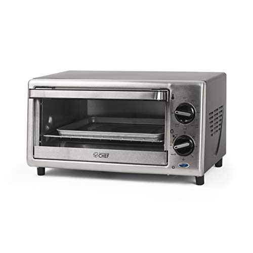 Commercial Chef CHTO2010S Toaster Oven, 0.4 Cu. Ft, Stainless Steel