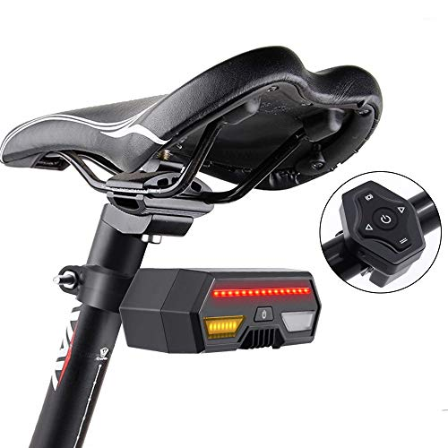 Thinkfly USB Bike Tail Lights, Smart Rechargeable Bicycle Turn Signal Lights with 85 Lumen LED & Remote Control, IPX4 Waterproof for Mountain, Road, and All Bikes