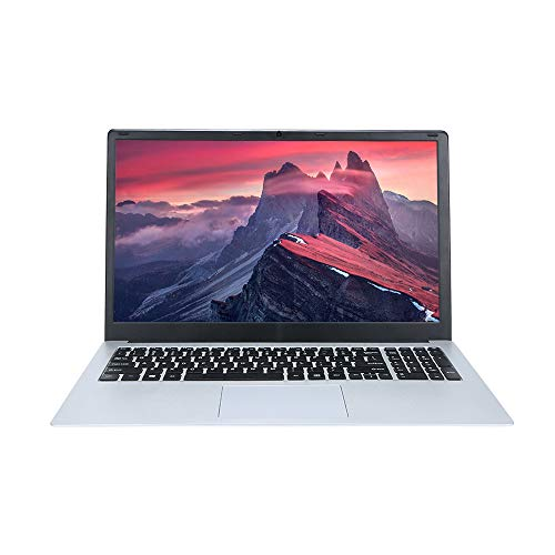 Docooler T-Bao Tbook R8S Laptop Notebook 15.6 Inch 6GB RAM 128GB Intel Apollo N3450 Quad Core Windows 10 for Gaming Office(Silver)
