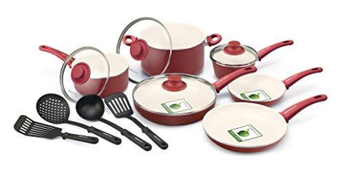 GreenLife 14pc Ceramic nonstick cookware set