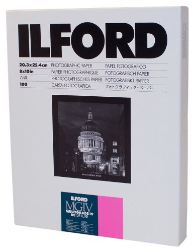 Ilford Multigrade IV RC Deluxe Resin Coated VC Paper, 8×10, 100 Pack (Glossy)