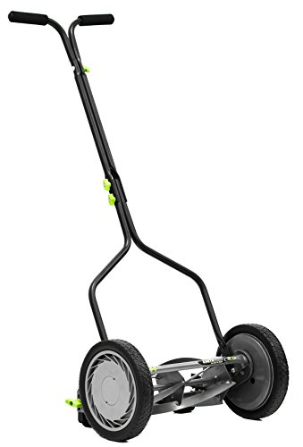 Earthwise 1314-14EW 14-Inch 5-Blade Push Reel Lawn Mower, Grey