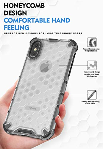 Soezit TPU+PC Dual Layer Honeycomb Pattern Shockproof Back Case Cover for Oppo F11 Pro - Black 8