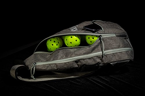 Franklin Sports Pickleball Bag - Official Bag of The US Open - Grey/Grey