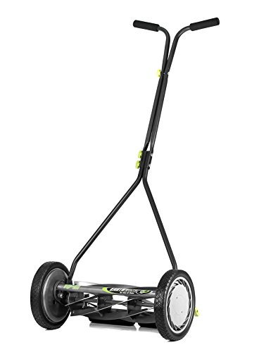 Earthwise 1715-16EW 16-Inch 7-Blade Push Reel Lawn Mower, Gray/Silver/Green