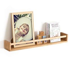 INMAN Floating Shelves, Wall Mounted Nursery Shelf-Wood Bookshelf Wall Shelves for Kitchen Spice Rack Bedroom and Living…