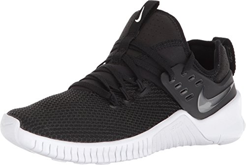 Nike Men's Free Metcon Ankle-High Cross Trainer Shoe (9.5 M US, Black/White)