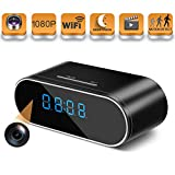 Hidden Spy Camera Wireless Hidden,HOSUKU 1080P Clock Hidden Cameras Wireless IP Surveillance Camera for Home Security Monitor Video Recorder Nanny Cam 140 Angle Night Vision Motion Detection