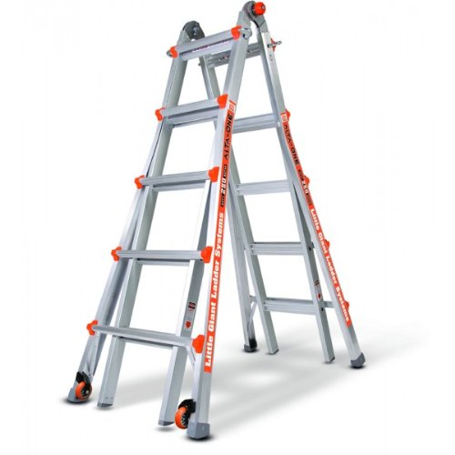 Little Giant Ladder 14016-110 AltaOne Model 22 Type 1 250-Pound Rated Ladder with Wheels