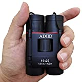Binoculars for adults compact lightweight,10x22 Small Compact Lightweight Binoculars for Bird Watching Traveling Sightseeing Concert Theater Opera,Boy Girl's Best Toy Gift