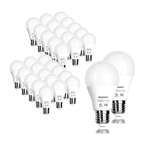 Tenergy LED Light Bulb, 9 Watts (60W Equivalent) A19 E26 Medium Standard Base, 5000K Daylight White Energy Saving Light Bulbs for Office/Home, 32-Pack, Non-Dimmable