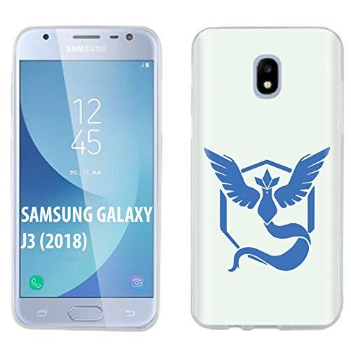 [Case86] Samsung Galaxy J3 2018/Amp Prime 3/Express Prime 3/Achieve/Star/J338 [Clear] Gelflex Phone Case [Team Mystic Print]