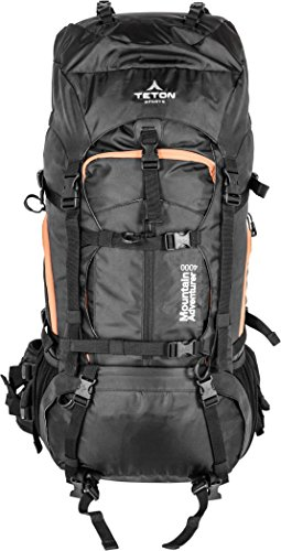 Teton Sports Mountain Adventurer 4000 Backpack; Lightweight Hiking Backpack for Camping, Hunting, Travel, and Outdoor Sports; Included Poncho Covers You and Your Pack from Rain or Use it as a Shelter