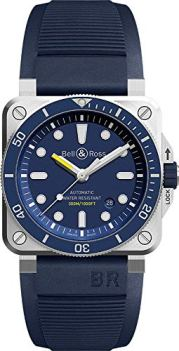 Bell and Ross Diver Automatic Blue Dial Men's Watch BR0392-D-BU-ST/SRB
