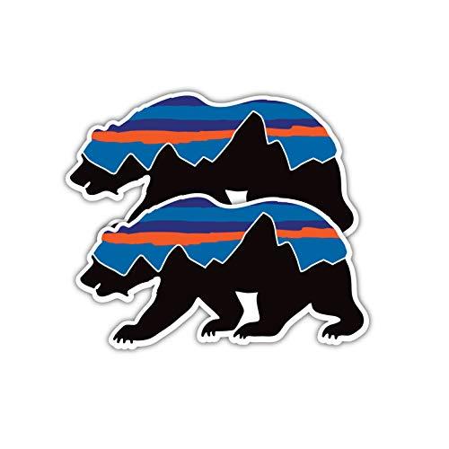 Summit Stickers Patagonia Bear Decals for Water Bottles Mountain Camping Travel Adventure Fishing [Premium Matte Vinyl]