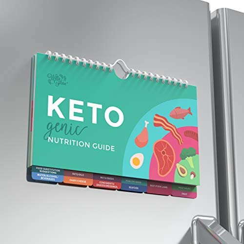 Willa Flare Keto Cheat Sheet Magnets - Easy Reference for 192 Keto Snacks and Foods! Correct Ketogenic Measurements for your Keto Cookbook - Easy Keto Diet Fridge Guide PLUS Extra List of 500 Foods 3