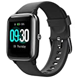 Willful Fitness Tracker Watch 2019 Version IP68 Swimming Waterprof, Smart Watch Compatible with Android Phone and iPhone,Health Tracker Heart Rate Monitor Sleep Tracker Watch for Men Women (Black)