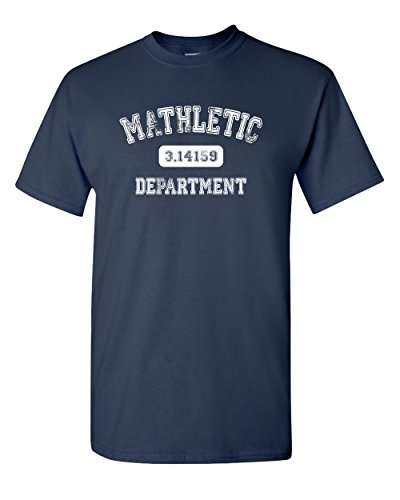Mathletic Funny Pi Math 3.14 Nerd Geek Number Humor Calculus Graphic Tee Pun Men's Adult T-Shirt (3XL) Navy Blue