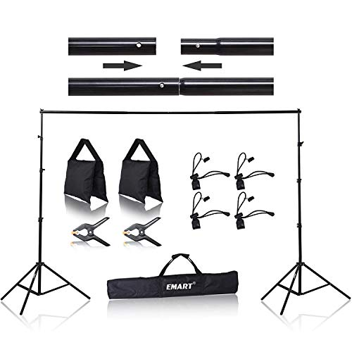 Emart-85-x-10-ft-Photo-Backdrop-Stand-Adjustable-Photography-Muslin-Background-Support-System-Stand-for-Photo-Video-Studio