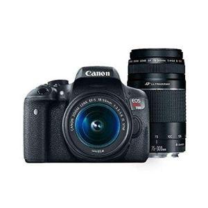 Canon Digital SLR Camera Kit [EOS Rebel T6] with EF-S 18-55mm and EF 75-300mm Zoom Lenses - Black, full-size 13