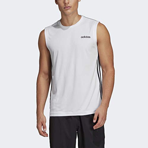 adidas Men's Designed 2 Move 3-stripes Sleeveless Tee 15 Fashion Online Shop gifts for her gifts for him womens full figure