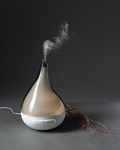 QUOOZ Lull Ultrasonic Aromatherapy Essential Oil Diffuser -Ultrasonic Diffusion w/Auto Shut-Off, Custom Light Settings for Relaxation, Peace of Mind, Healthy Body & Spirit - 200 ml, 8-10 hrs