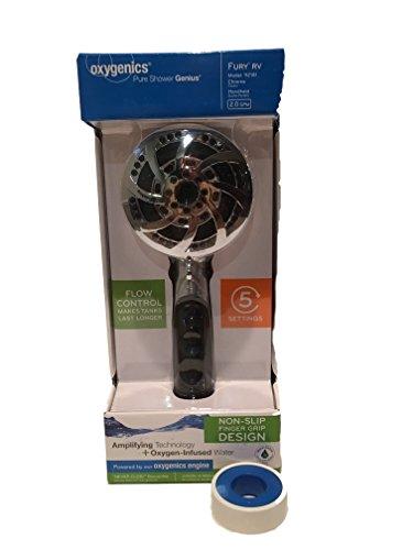 Oxygenics RV Shower Head with Hose Bundled with Pipe Thread - Chrome Showerhead