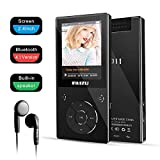 MP3 Player with Bluetooth 4.1,RUIZU Lossless Sound Music Player with Touch Buttons 2.4 Inch Screen,FM Radio,Vocie Recorder,Video Playback, Build-in Speaker, TF Card Support up to 128GB