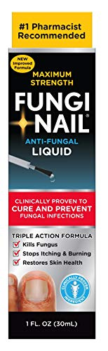 Fungi-Nail Anti-Fungal Solution, 1 Ounce - Kills Fungus That Can Lead To Nail Fungus & Athlete's Foot w/ Undecylenic Acid & Clinically Proven to Cure Fungal Infections