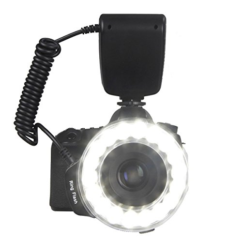 SAMTIAN RF-600D 18 LEDs Ultra Bright Macro LED Ring Flash, Versatile Lighting for Macro Close-up Photography For Canon Nikon Sony Mi Hot Shoe and Other DSLR Cameras