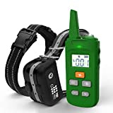 TBI Pro [All-New 2019] Dog Shock Training Collar with Remote | Heavy-Duty, Long Range 2000 ft, Rechargeable & IPX7 Waterproof | E-Collar Shock Collar for Dogs Small, Medium, Large Size, All Breeds