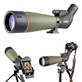 Gosky 2019 Updated Newest Spotting Scope with Tripod, Carrying Bag - BAK4 Angled Scope for Target Shooting Hunting Bird Watching Wildlife Scenery (20-60x80 Scope+Phone Mount+SLR Mount for Canon)