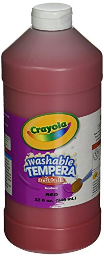 Crayola Red Washable Tempera Paint, 32-Ounce
