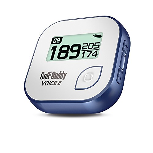 GolfBuddy Voice 2 Golf GPS/Rangefinder, White/Blue