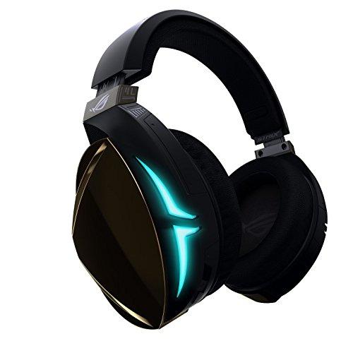 ASUS ROG Strix Fusion 500 - Auriculares de gaming (iluminación RGB sincronizable, controlar desde la app, DAC ESS de alta fidelidad, amplificador y sonido 7.1 virtual) negro