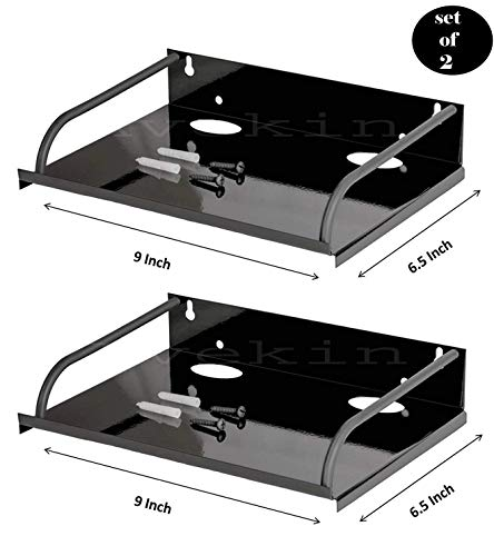 Avekin® Set top Box Wall Stand Set of 2, Black 63