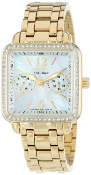 Citizen Women's FD1042-57D Eco-Drive Gold Tone Silhouette Crystal Watch
