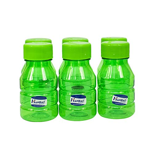 41qh%2BaOqM5L - HANBAO Plastic Water Bottle, 250ML, Set of 6, Green