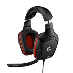 Logitech G332 Stereo Gaming Headset 6 mm Flip-to-Mute Mic for PlayStation 4, Xbox One and Nintendo Switch