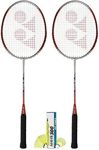 Yonex Badminton Combo Set 2-B350 and 1-Mavis 300 Yellow
