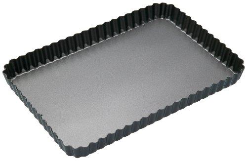 Non-Stick Loose Base Fluted Rectangular Flan/Quiche Tin