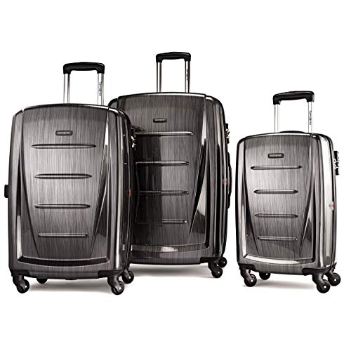 Samsonite Winfield 2 Expandable Hardside Luggage Set with Spinner Wheels, 3-Piece (20/24/28), Charcoal